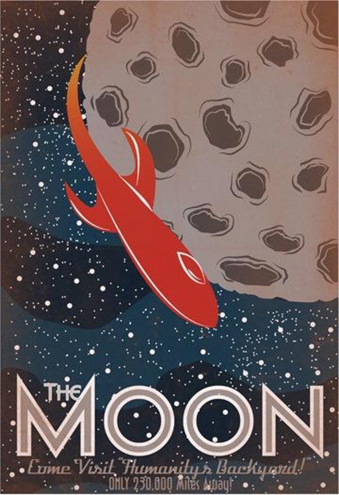 Nasa Space Tourism Poster: Moon   poster   nasa   space