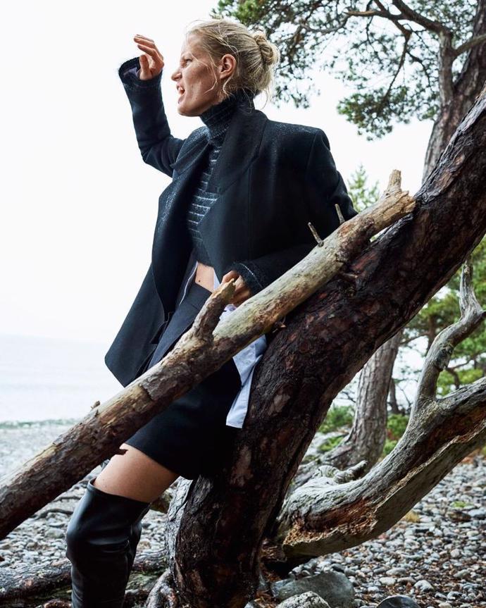 Caroline Winberg with son Casper for Elle Sweden   photoshoot   magazine   elle