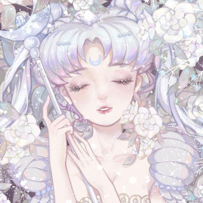 | sailor moon art | anime | snow