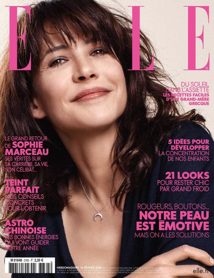 Sophie Marceau for Elle, February 2018   photoshoot   magazine   elle