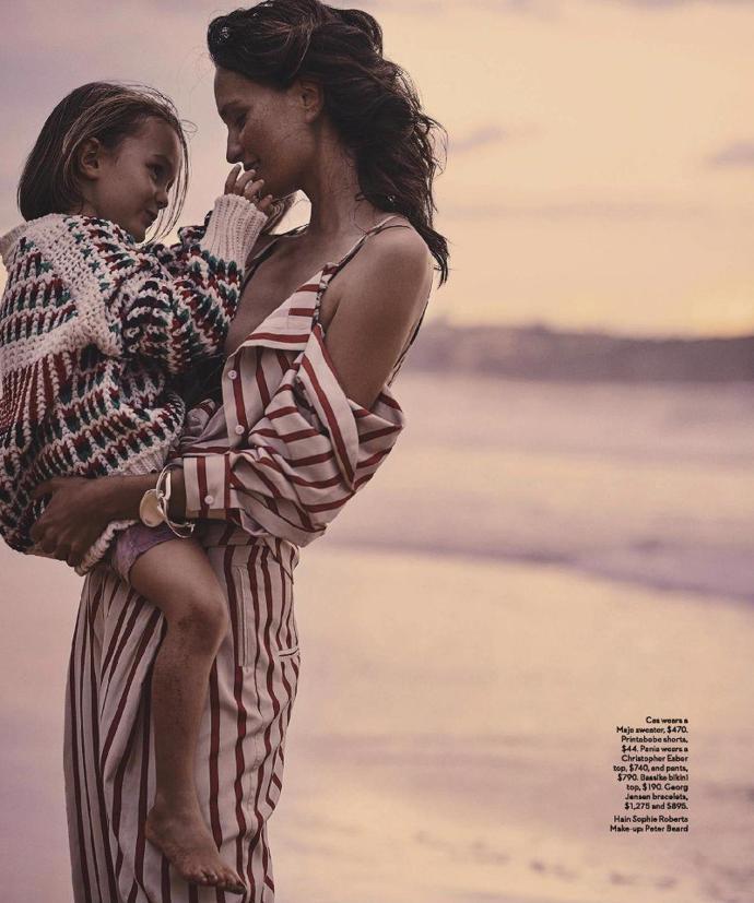 Pania Rose & Thaddeus O'Neil for Vogue Australia | photoshoot | magazine | vogue