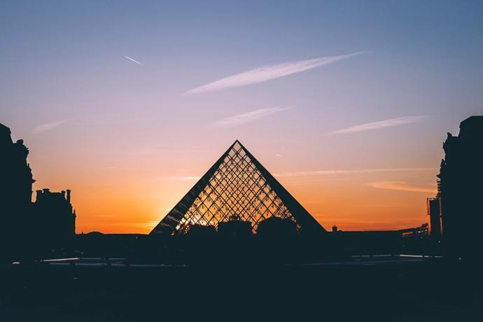 Пирамида Лувра, Париж | мир | путешествия | франция