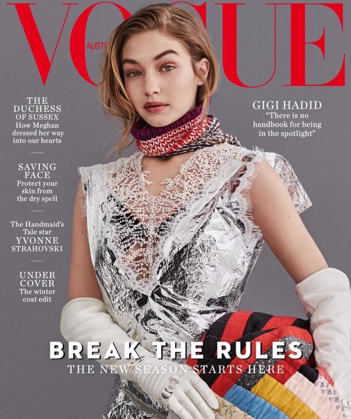 Gigi Hadid covers the July 2018 issue of Vogue Australia | photoshoot | vogue | model