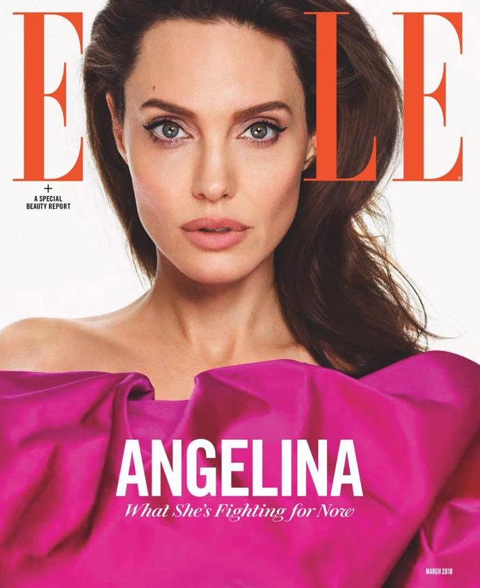 Angelina Jolie for Elle   photoshoot   magazine   elle